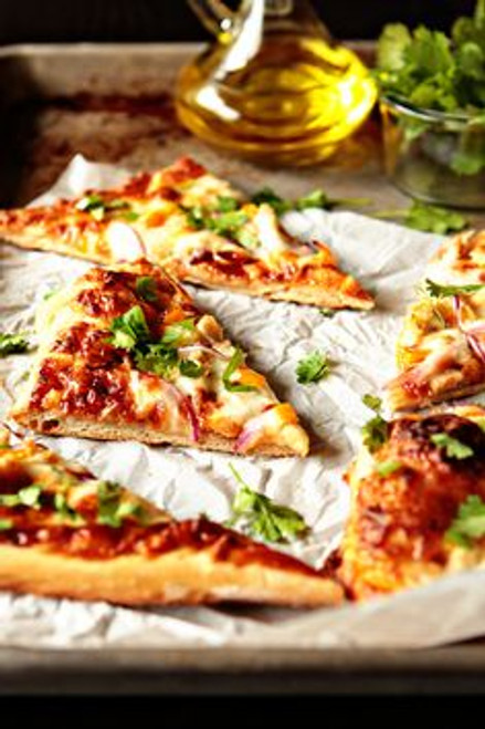 Barbecue Chicken Pizza - (Free Recipe below)