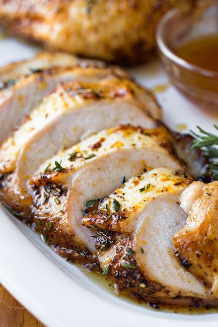 Orange-Honey Glazed Roasted Turkey Breasts - (Free Recipe below)