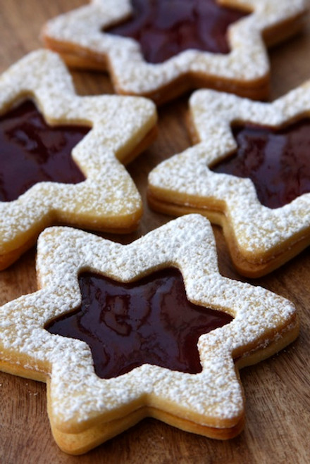 LINZER COOKIE STARS - One Dozen w/ recipe below
