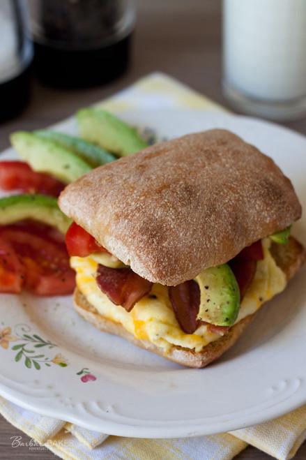 BLT Breakfast Sandwich - (Free Recipe below)