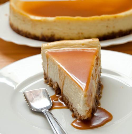White Chocolate and Caramel Cheesecake w/ recipe below
