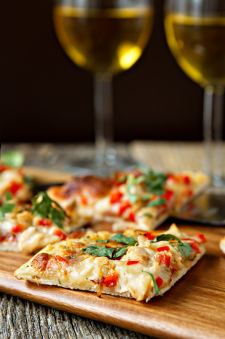 Spicy Chicken and Pepper Jack Flat Bread Pizza - (Free Recipe below)