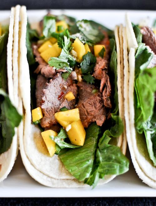 Healthy Thai Beef Tacos - (Free Recipe below)