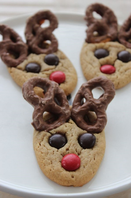 Peanut Butter Reindeer Cookies - 2 Dozen w/ recipe below