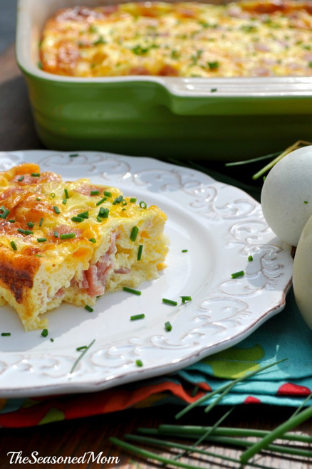 Baked Ham and Cheese Omelet - (Free Recipe below)