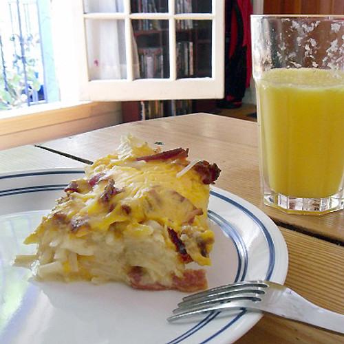 Bacon, Potato & Onion Breakfast Casserole - (Free Recipe below)