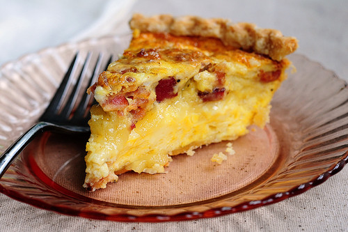 Brie Bacon Quiche - (Free Recipe below)
