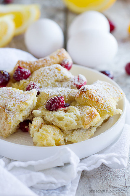 Cranberry Orange Baked French Toast Casserole - (Free Recipe below)
