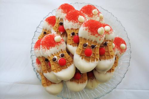 Nutter Butter Santa Cookies - Baker's Dozen w/ recipe below
