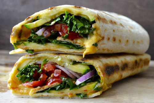 Grilled Zucchini Hummus Wraps - (Free Recipe below)
