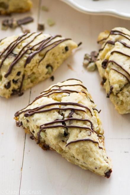 Mint Chocolate Chip Scones - One Dozen w/ recipe below