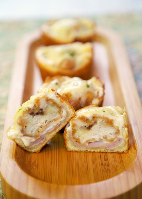 Chicken Cordon Bleu Bites - (Free Recipe below)