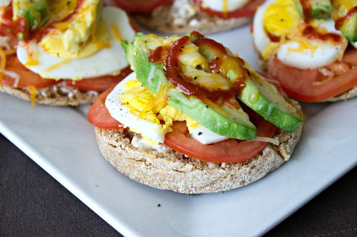Breakfast Melts with Sriracha - (Free Recipe below)