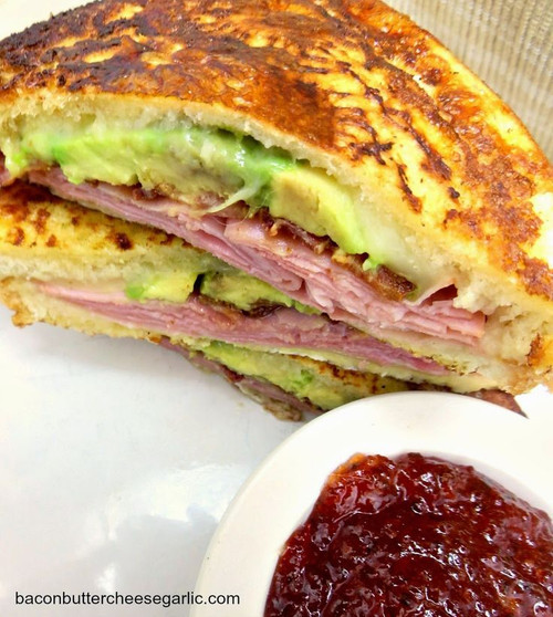 AVOCADO MONTE CRISTO GRILLED CHEESE SANDWICH - (Free Recipe below)