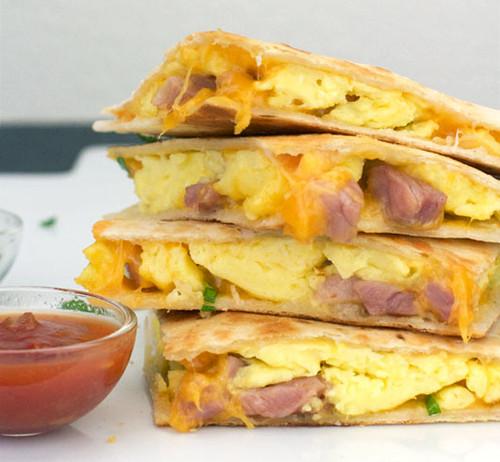 Ham & Cheese Breakfast Quesadillas - (Free Recipe below)