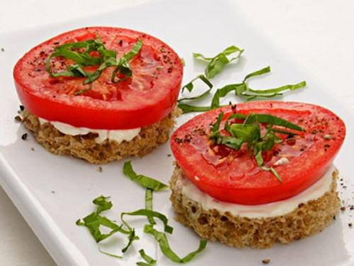 Tomato & Basil Finger Sandwiches - (Free Recipe below)