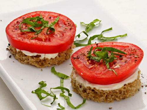 Tomato & Basil Finger Sandwiches - (Free Recipe below)
