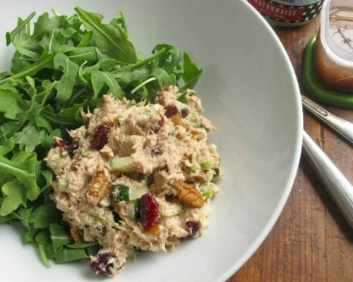 Tuna Salad with Cucumber, Cranberries and Pecans - (Free Recipe below)