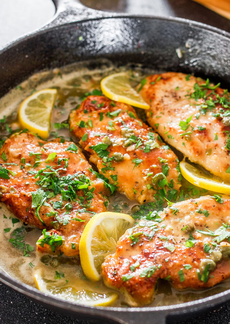 LEMON CHICKEN PICCATA - (Free Recipe below)