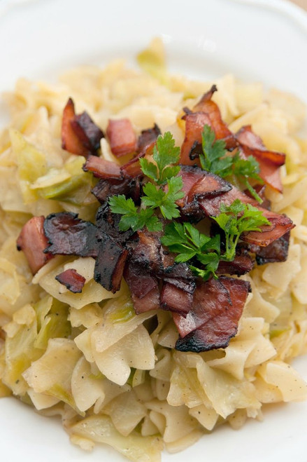 Cabbage with Bacon and Noodles - (Free Recipe below)