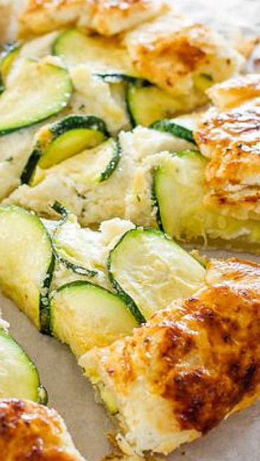 ZUCCHINI AND RICOTTA GALETTE - (Free Recipe below)