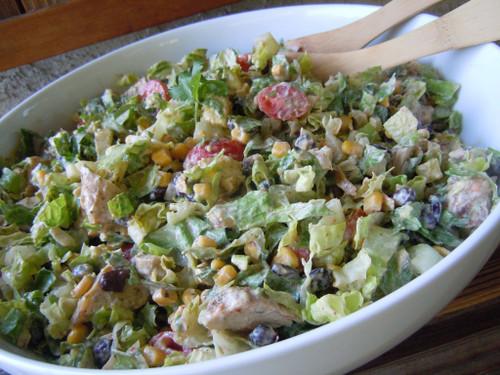 Healthy Chipotle Chicken Taco Salad - (Free Recipe below)