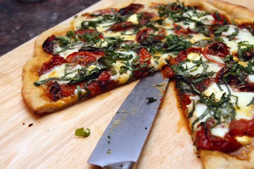 Tomato Basil Pizza - (Free Recipe below)