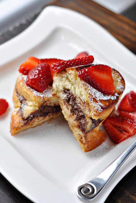 Stuffed Nutella French Toast with Strawberries - (Free Recipe below)