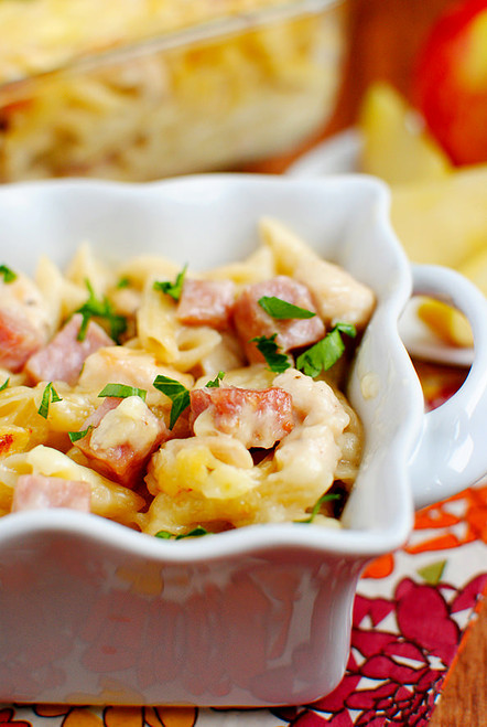Chicken Cordon Bleu Mac and Cheese - (Free Recipe below)