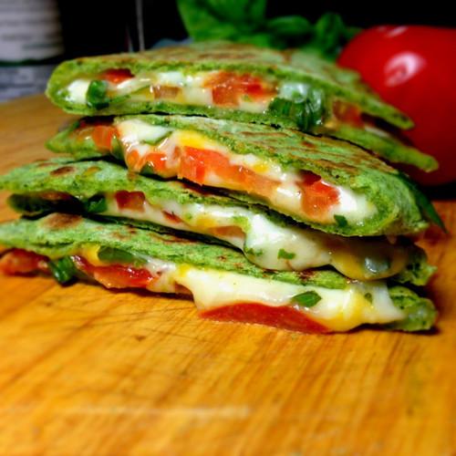 Margarita Spinach Quesadillas - (Free Recipe below)