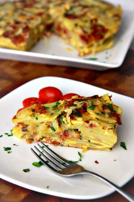 Salami and Cheese Tortilla Bake - (Free Recipe below)