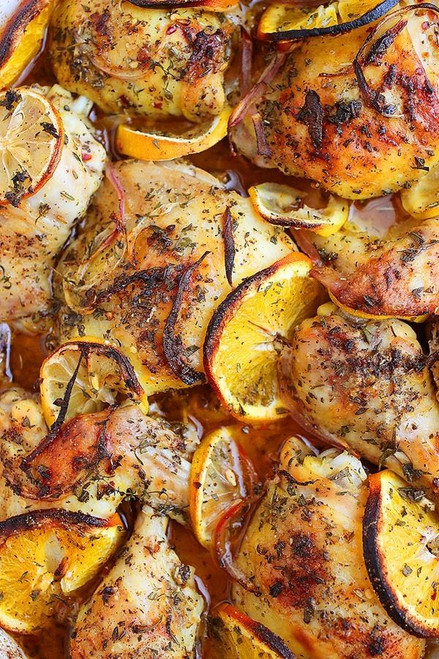 Herb and Citrus Oven Roasted Chicken - (Free Recipe below)
