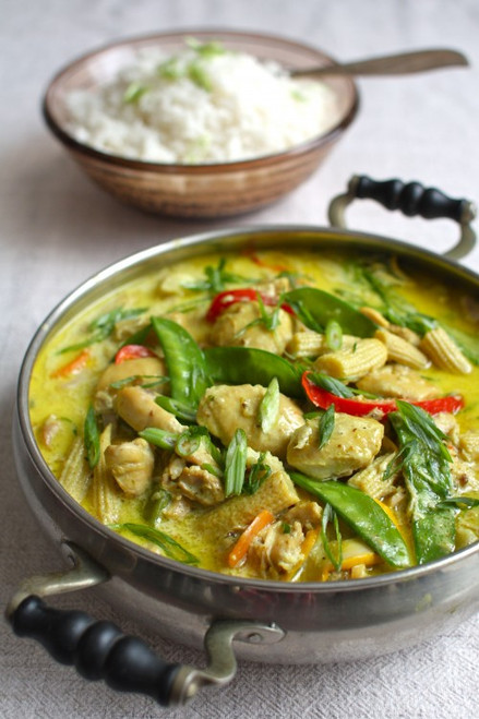 Coconut Ginger Chicken & Vegetables	- (Free Recipe below)