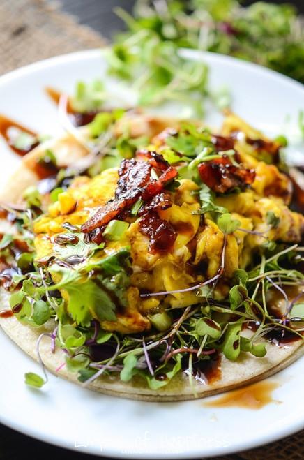 Farmers' Market Breakfast Tacos - (Free Recipe below)