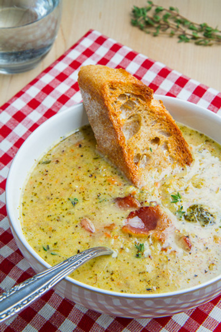 Roasted Broccoli and Cheddar Soup - (Free Recipe below)
