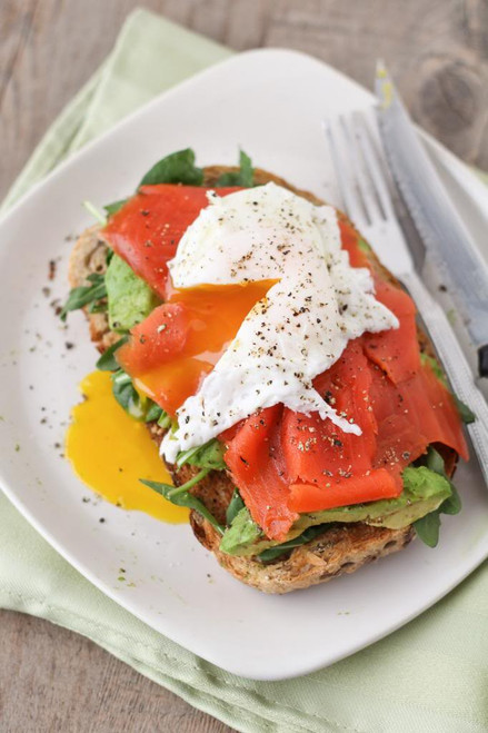 Smoked Salmon & Avocado Egg Sandwich - (Free Recipe below)