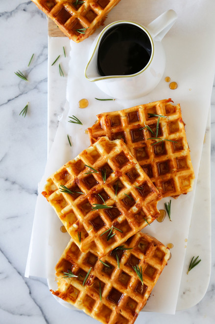 Savory Waffles with Rosemary, Ham and Dubliner Cheese - (Free Recipe below)