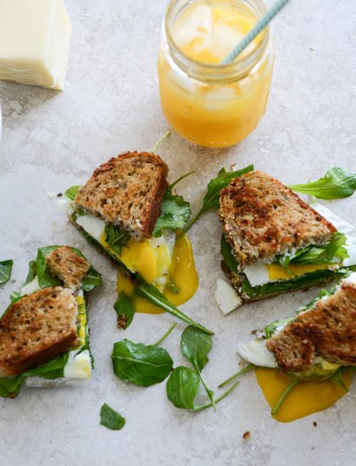 Gruyere, Fig Jam and Arugula Breakfast Sandwich - (Free Recipe below)
