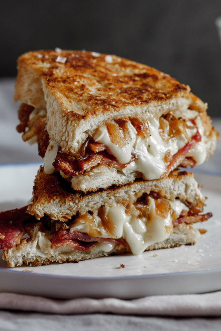 Bacon, Brie Grilled Cheese with Caramelized Onions - (Free Recipe below)