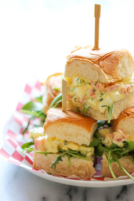 Skinny Egg Salad Sliders - (Free Recipe below)