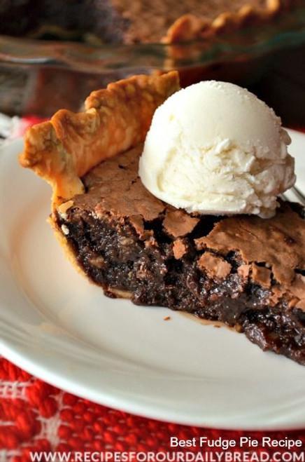 Candy Bar Fudge Pie - (Free Recipe below)