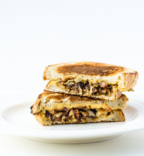 Grilled Hummus and Caramelized Onion Sandwich - (Free Recipe below)