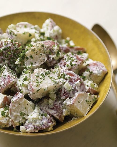 Warm Potato Salad with Goat Cheese (GF, V) - (Free Recipe below)