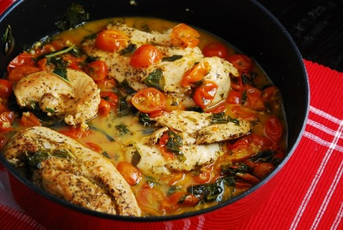 Tomato Basil Chicken - (Free Recipe below)
