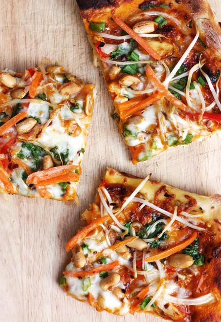 Thai Red Curry Pizza - (Free Recipe below)