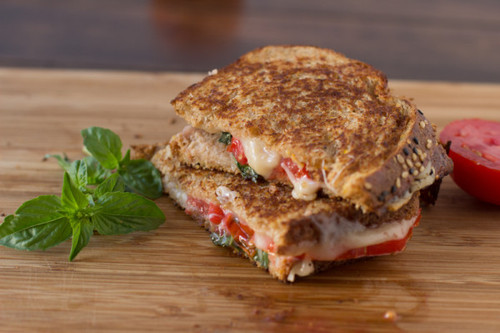 Basil Havarti &  Tomato w/ Honey Grilled Cheese - (Free Recipe below)