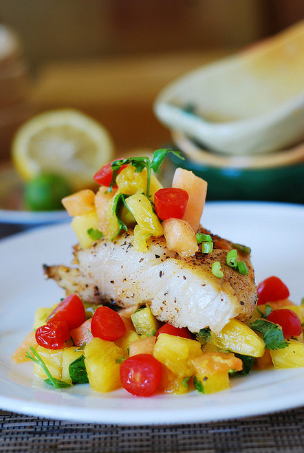 Black Cod with Salsa - (Free Recipe below)