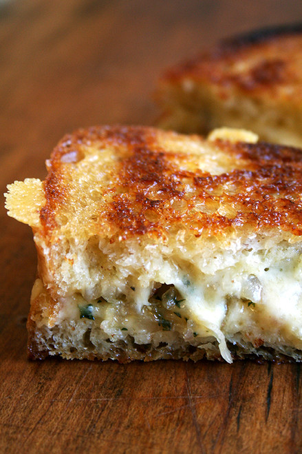 Grilled Cheese with Apple Salad - (Free Recipe below)