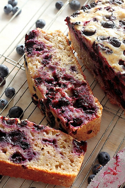 Healthy Blueberry Banana Bread w/ recipe below
