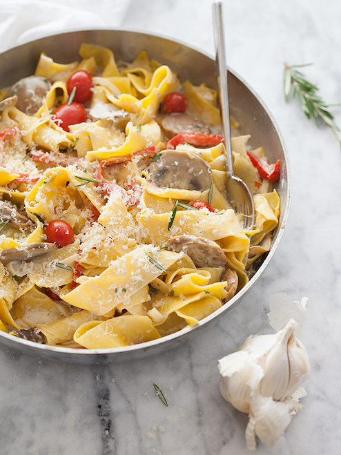 Sausage and Marsala Pappardelle - (Free Recipe below)